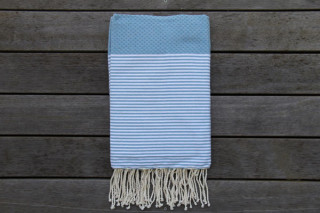 Cannes Light-Denim Blue with White Stripes