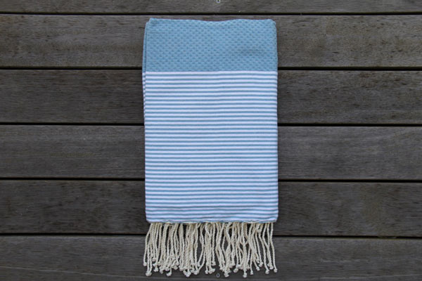 Cannes Light-Denim Blue with White Stripes