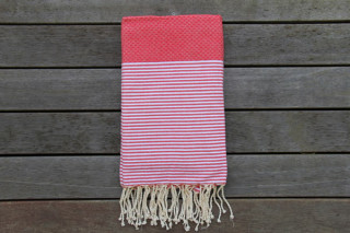 Cannes Red with White Stripes