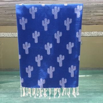 Noosa Beach Towel with Cactus Design