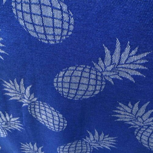 Close-up of pineapple beach towel design